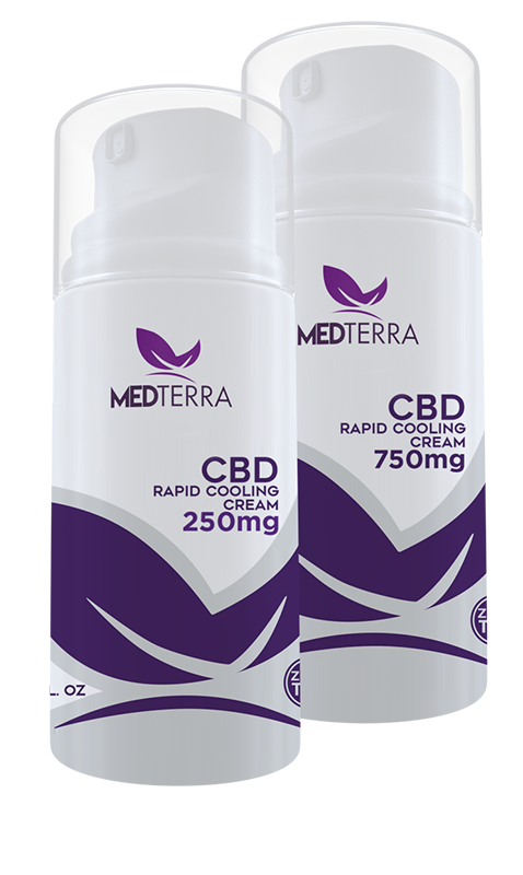 Medterra's 250 and 750 mg pain relieving cream