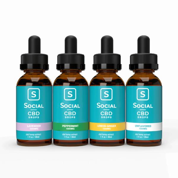 The Social CBD Flavored Drops